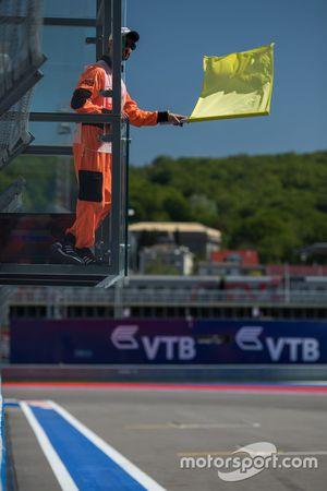 Marshal and Yellow Flag