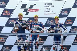 Podium: race winner Romano Fenati, Marinelli Rivacold Snipers, second place Jorge Martin, Del Conca