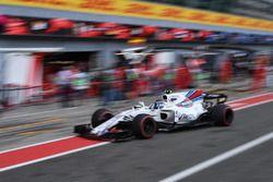 Lance Stroll, Williams FW40, Boxenstopp