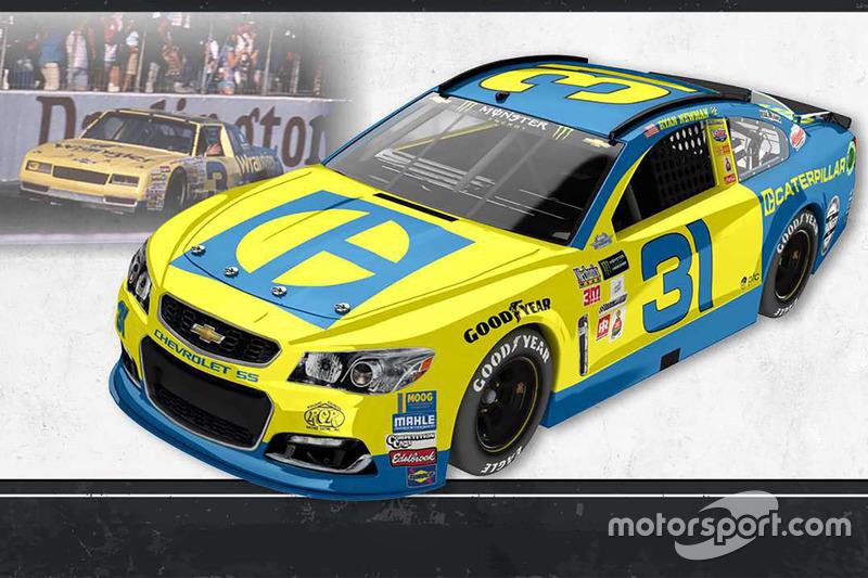 Throwback-Design: Ryan Newman, Richard Childress Racing Chevrolet