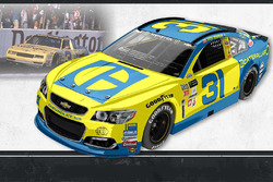 Throwback-Design: Ryan Newman, Richard Childress Racing Chevrolet