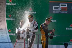 Podium: George Russell, ART Grand Prix, Jack Aitken, ART Grand Prix, Anthoine Hubert, ART Grand Prix