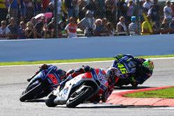 Andrea Dovizioso, Ducati Team, Maverick Vinales, Yamaha Factory Racing, Valentino Rossi, Yamaha Fact