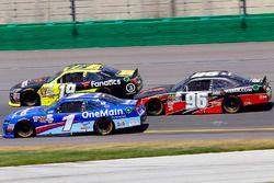Elliott Sadler, JR Motorsports Chevrolet, Matt Tifft, Joe Gibbs Racing Toyota and Ben Kennedy, GMS R