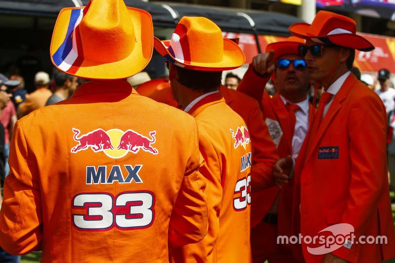 Fans of Max Verstappen, Red Bull