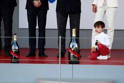 Prince Albert's son on the podim