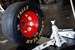 NASCAR-Rad in der Box von Wood Brothers Racing