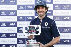 Nicolas Prost, Renault e.Dams, with the Visa fastest lap trophy