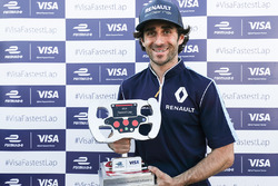 Nicolas Prost, Renault e.Dams, with the Visa fastest lap trophy