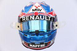 The helmet of Jolyon Palmer, Renault Sport F1 Team RS17