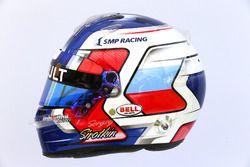 The helmet of Sergey Sirotkin, Renault Sport F1 Team RS17 Third Driver