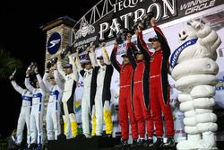 GTLM podium: winners Antonio Garcia, Jan Magnussen, Mike Rockenfeller, Corvette Racing, second place