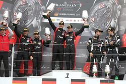 Podium: race winners Stuart Leonard, Robin Frijns, second place Markus Winkelhock, Will Stevens, third place Andrea Caldarelli, Ezequiel Perez Companc