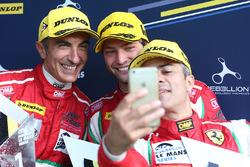GTE winners Gianluca Roda, Giorgio Roda, Andrea Bertolini, Graff Racing