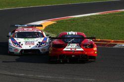 Contatto tra Cassarà-Gentili (Ombra Srl,Lamborghini Huracan-S.GT3 #7) e Motoaki Ishikawa (AF Corse,