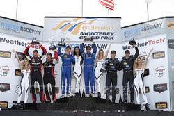 Podium: winners Renger van der Zande, Marc Goossens, Visit Florida Racing, second place Eric Curran,
