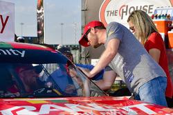 Justin Allgaier, JR Motorsports Chevrolet and team owner Dale Earnhardt Jr.