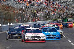 Ryan Blaney, Team Penske, Ford; Joey Logano, Team Penske, Ford; Tyler Reddick, Chip Ganassi Racin,g