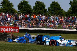 Kollision: Tony Kanaan, Chip Ganassi Racing, Honda; Marco Andretti, Andretti Autosport, Honda