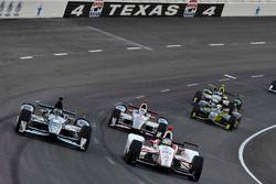 Josef Newgarden, Team Penske Chevrolet, Tristan Vautier, Dale Coyne Racing Honda