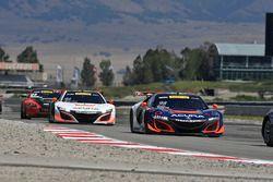 #93 RealTime Racing Acura NSX GT3: Peter Kox, Mark Wilkins, #43 RealTime Racing Acura NSX GT3: Ryan