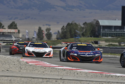 #93 RealTime Racing Acura NSX GT3: Peter Kox, Mark Wilkins, #43 RealTime Racing Acura NSX GT3: Ryan