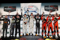 PC podium: winners Garett Grist, Tomy Drissi, John Falb, BAR1 Motorsports, second place Don Yount, Buddy Rice, Daniel Burkett, BAR1 Motorsports, third place James French, Patricio O'Ward, Kyle Masson, Performance Tech Motorsports