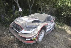 Elfyn Evans, Daniel Barritt, Ford Fiesta WRC, M-Sport, nach Crash