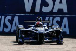 James Rossiter drives the Formula E show car