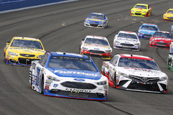 Denny Hamlin, Joe Gibbs Racing Toyota and Ricky Stenhouse Jr., Roush Fenway Racing Ford