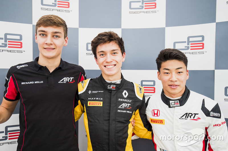 Le podium du GP3 Series 2017