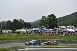 #14 3GT Racing Lexus RCF GT3: Scott Pruett, Sage Karam, #63 Scuderia Corsa Ferrari 488 GT3: Christina Nielsen, Alessandro Balzan