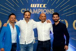Andy Priaulx; Yvan Muller, Citroën World Touring Car Team; Gabriele Tarquini, LADA Sport Rosneft; Jo