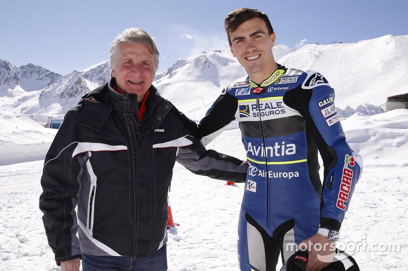 Loris Baz, Avintia Racing, avec Paolo Ciabatti
