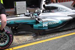 Valtteri Bottas, Mercedes AMG F1 W08, lateral