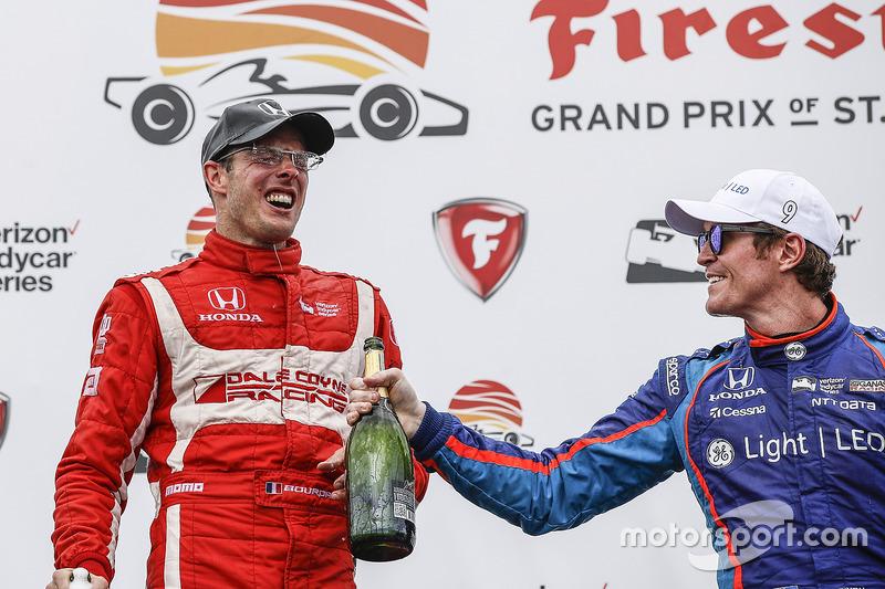 Podium: ganador, Sébastien Bourdais, Dale Coyne Racing Honda, tercero, Scott Dixon, Chip Ganassi Rac