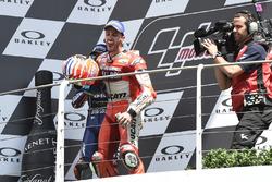 Podium: Andrea Dovizioso, Ducati Team