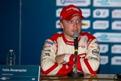 Persconferentie: tweede plaats Felix Rosenqvist, Mahindra Racing