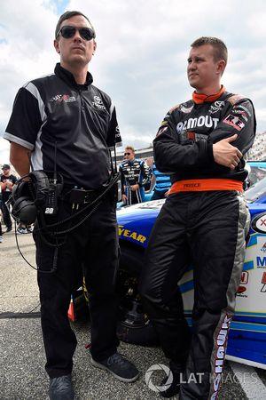 Ryan Preece, Joe Gibbs Racing Toyota and Chris Gabehart