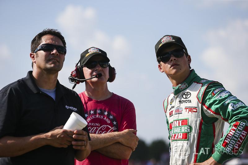Harrison Burton, Kyle Busch Motorsports Toyota, Jeff Burton, and David Stremme
