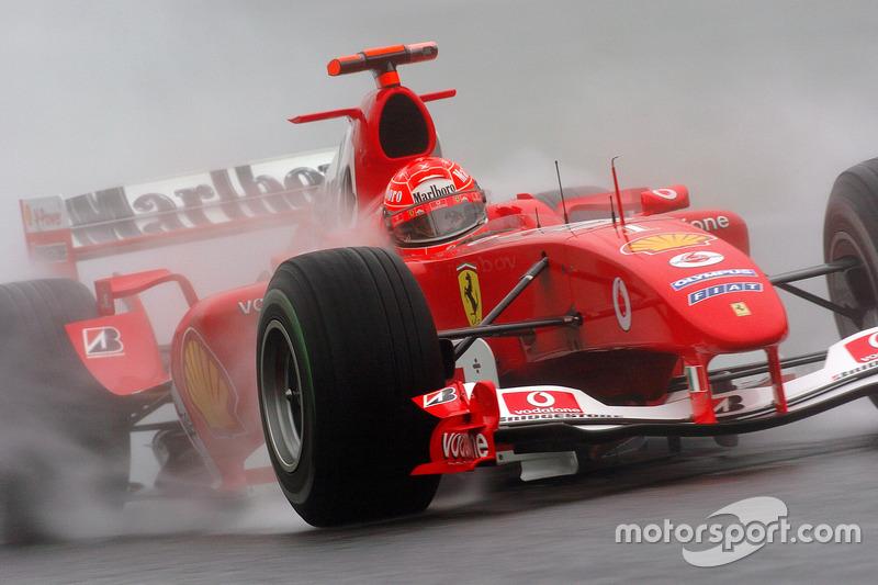 2004: el casco de su séptimo título