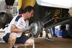 Mechaniker vom Team Peugeot Sport