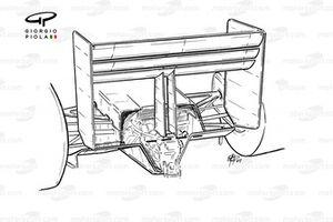 Заднее антикрыло Ferrari F1-91 (642) 1991 года