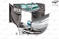 Заднее антикрыло Mercedes F1 W07