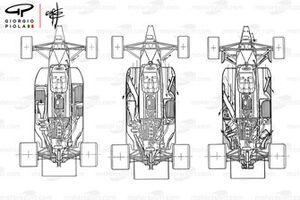 Brabham BT55 1986, evoluzione del packaging