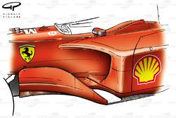 Châssis, déflecteurs et pontons de la Ferrari F2001