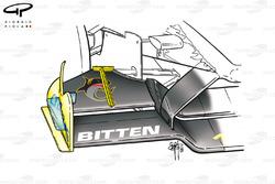 Jordan EJ11 front wing top flap divider gurney