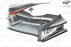 Plaque d'extrémité de l'aileron avant de la McLaren MP4-18