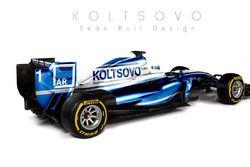 Ливрея машины Формулы 1 с логотипом аэропорта