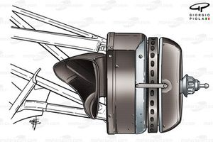 Williams FW26 front brake duct (DSQ from results)